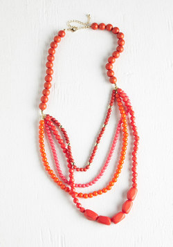 Pep It Up Necklace in Sunrise Red