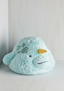 Plush One Pillow in Narwhal