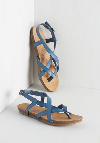 Everyday Nonchalance Sandal in Blue