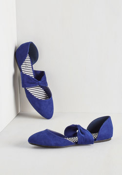 Three Strides and You're Haute Flat in Cobalt