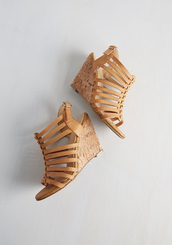 Strappy Trails to You Wedge in Tan