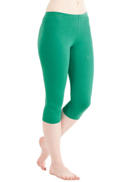 Rise to the Crop Leggings in Kelly Green