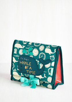Fare Thee Whale Makeup Bag