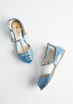 Shoe Me the Way Flat in Cerulean