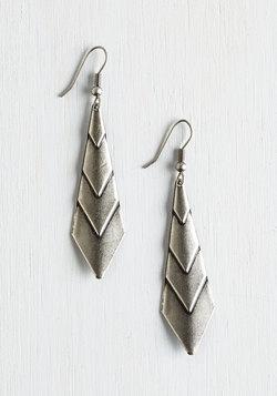 On Point! Earrings in Silver