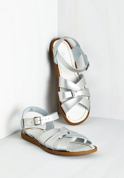 Salt Water Sandal in Silver