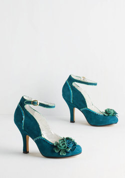 Savor the Superb Heel in Teal
