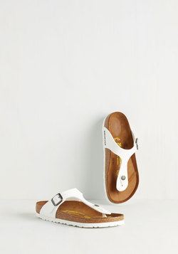 Garden Consultation Sandal in White