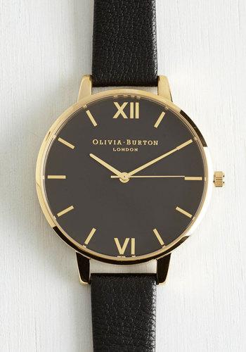 Classic Company Watch in Black Gold - Big