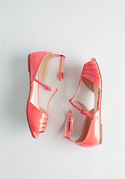Shoe Me the Way Flat in Coral