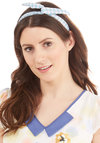 Through the Wire Headband in Blue Gingham