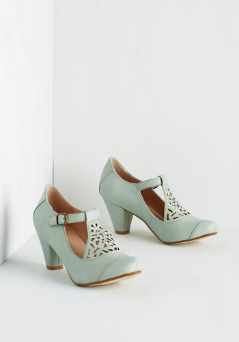 Picture of Poetic Heel in Sage $64.99 AT vintagedancer.com