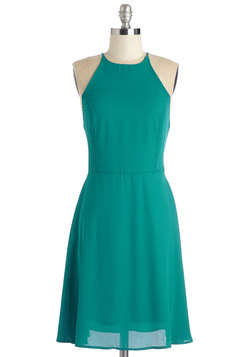 Refreshing Finesse Dress in Teal