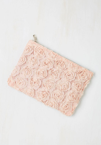 Chic to Chic Clutch in Blush - Pink, Solid, Flower, Special Occasion, Wedding, Darling, Good, Bridesmaid, Bride, Prom, Fairytale, Pastel, Spring, Statement, Summer