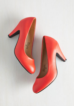 In a Classic of Its Own Heel in Coral
