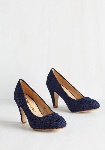 Im Sew Excited Heel in Navy $39.99 AT vintagedancer.com