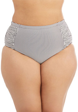 Edgy of the Sea Swimsuit Bottom in Stripes - Plus Size