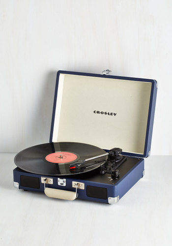 Take Your Turntable in Blue - Blue, Dorm Decor, Vintage Inspired, Graduation, Travel, Best Seller, Best Seller, Mid-Century, Best, 60s, Guys, Music, Top Rated, WPI, Press Placement