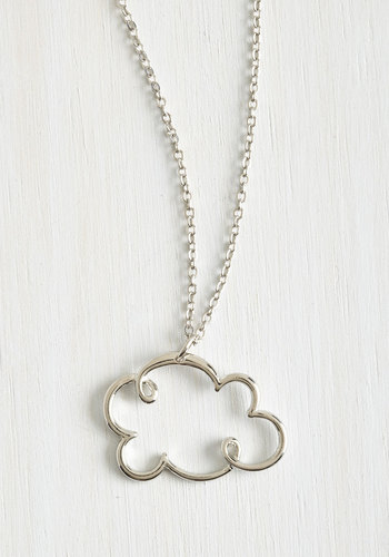 Coveting Cumulus Necklace - Solid, Kawaii, Silver, Exclusives, Boho, Darling