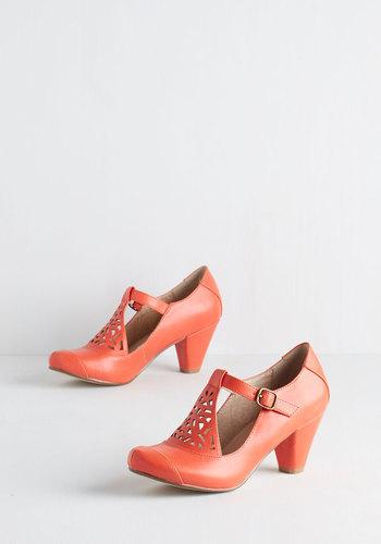 Picture of Poetic Heel in Tangerine $64.99 AT vintagedancer.com