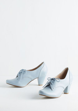 Swing Along Heel in Powder Blue