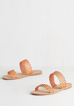 Bright Down the Line Sandal