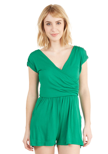 Hopscotch into Style Romper in Green