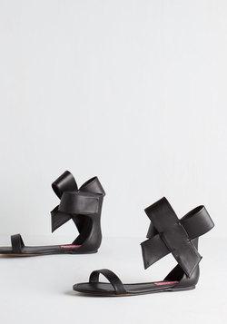 Betsey Johnson Posh Star Sandal in Black