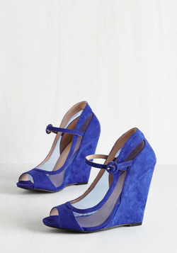 Happy as a Glam Wedge in Cobalt