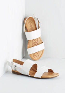 Ooh Baby It's a Wild Wharf Sandal in White