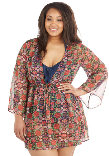 Let's Have Sun Fun Cover-Up in Plus Size