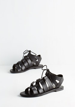 Tie it Out Sandal in Black