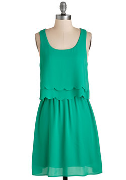 Teach Me Your Sways Dress in Jade Green