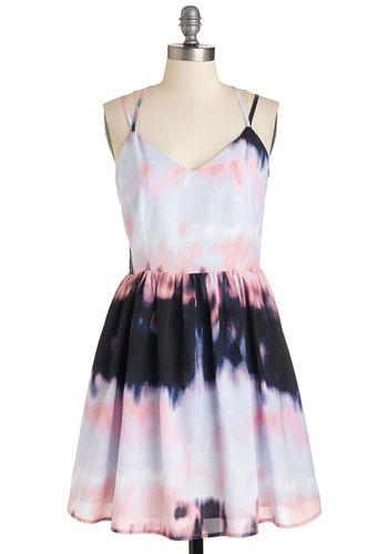 Turn of the Tie Dye Dress