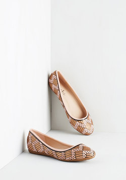 Chevron the Right Track Flat in Blush