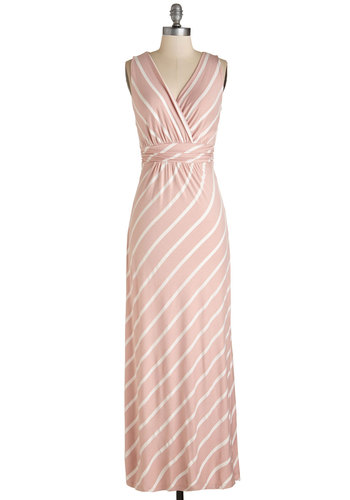 Adore Country Dress in Blush Stripes
