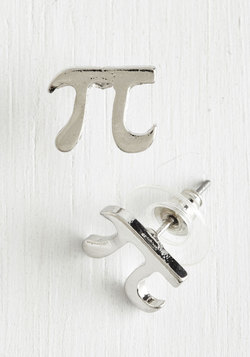 Cutie Pi Earrings in Silver