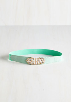 Little Bit of Glitz Belt in Mint