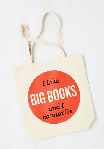 Baby Got Book Tote - Tan, Multi, Scholastic/Collegiate, Nifty Nerd, Sayings, Novelty Print, Casual, Gifts2015, Travel, Quirky, Summer