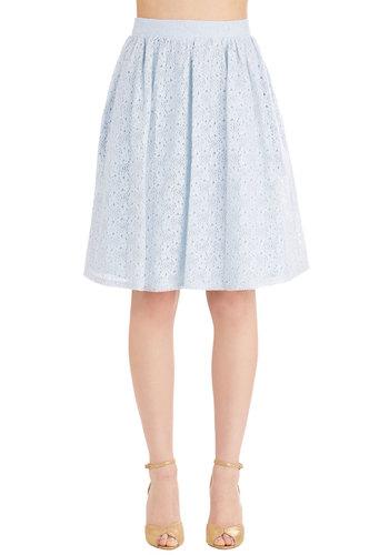 A Presh Start Skirt in Sky
