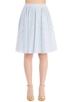 A Presh Start Skirt in Sky