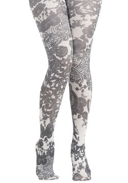 Patterned Pick Tights