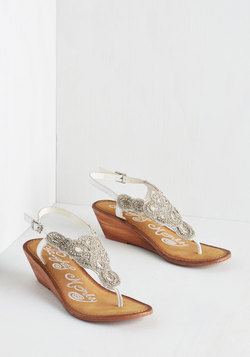 Twinkle in Your Stride Sandal in White