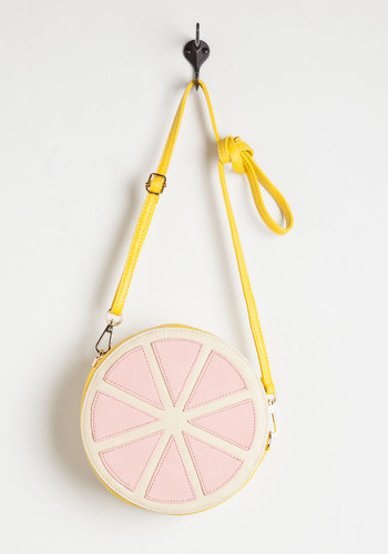 Spritz a Wonderful Life Bag - Pink, White, Fruits, Good, Faux Leather, Yellow, Solid, Statement, Gals, Quirky, Party