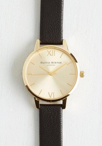 Undisputed Class Watch in Black Gold - Midi