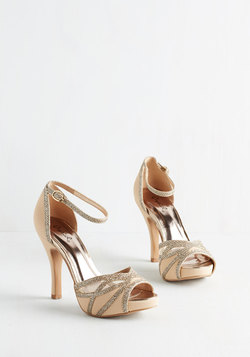 Glitz All for You Heel in Beige