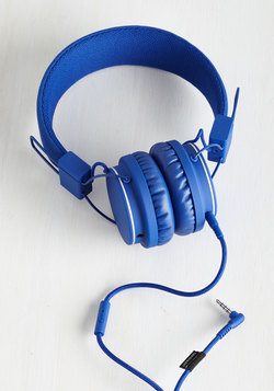Thoroughly Modern Musician Headphones in Cobalt