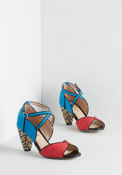 Eclectic Company Heel in Colorblock