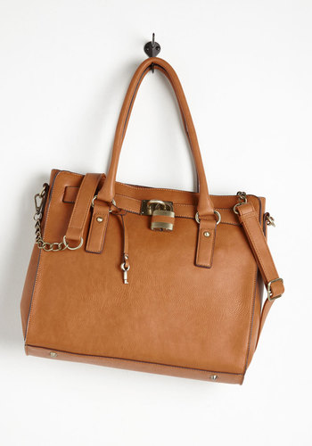 Full Course Load Bag in Cognac - 14 inch by Melie Bianco - Brown, Solid, Chain, Work, Casual, Press Placement, Scholastic/Collegiate, Faux Leather, Best Seller, Variation, Basic, Exclusives, Gals, Urban, Travel, Rustic, Safari, Fall, Winter