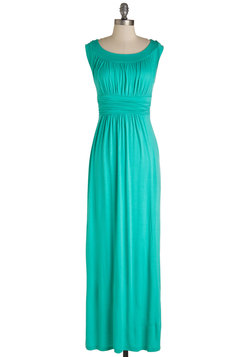 First Classic Dress in Jade